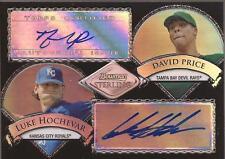DAVID PRICE & LUKE HOCHEVAR 2007 Bowman Sterling Dual Autograph Refractor #/25