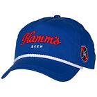 Hamm's Beer Roped Brim Adjustable Snapback Hat Blue