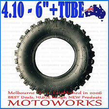 "4.10 - 6"" inch Knobby Tyre Tire + Tube ATV QUAD Bike Gokart Scooter Buggy Mower"