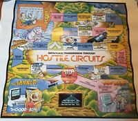 Vintage 1984 Comspec 9600C Board Game Poster Hostile Circuits 30x24 inches