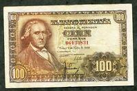 BILLETE 100 PESETAS MADRID 2 MAYO 1948 SERIE D 6133831  EBC -
