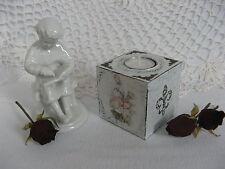 Handgefertigte Deko-Kerzenständer & -Teelichthalter im Shabby-Stil aus Holz