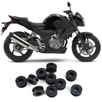 10 Pezzi Rondelle Carenatura Moto Rondelle Di Gomma Per Honda / Suzuki / Yamaha