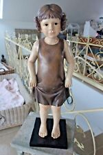 Shabby Große Skulptur Mädchen Kind Deko Figur 60x20x18 Retro Antiklook NEU Nr334