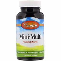 Carlson Labs Mini-Multi Vitamins  Minerals Iron-Free 180 Tablets Gluten-Free,