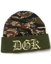 NEW DGK Dime Beanie Tiger Camo Knit Cap Hat