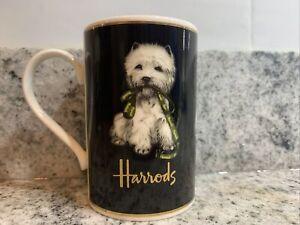 Harrods Fine Stoneware Westie Puppy Dog Mug~made In England