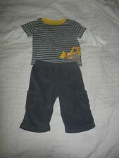 Carter's Child of Mine 2 Piece Set Leyered Look Shirt with Truck & Fleece Pant