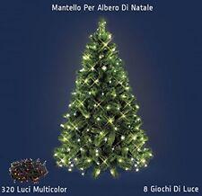 Mantello Rete Minilucciole Per Albero Di Natale 320 Luci Led Multicolore dfh