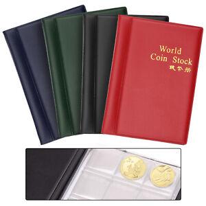 120 Pcs Coin Album Collection Holders Money Storage Penny Pocket Book Folder