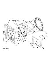 NEW OEM GE Front Load Washing Machine PUMP ACCESS SHROUD WH01X10567