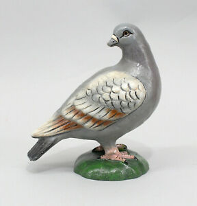 9973702 Sculpture Figure Iron Metal Pigeon Colourful Door Stopper H19cm