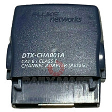 Used Amp Tested Dtx Cha001a Cat 6 Channel Adapter For Fluke Dtx 1800 Dtx 1200