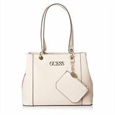 GUESS Kamryn Carryall Tote Shopper Handbag Purse Logo Embossed pink
