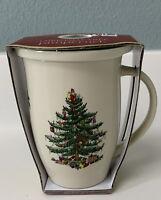 """New Spode """"Christmas Tree"""" MUG & COASTER Set Coffee Tea Cup Holiday Gift"""