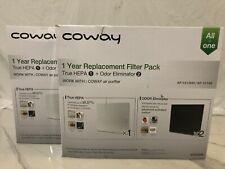 2 Coway True Hepa All in One 1 Year Replacement Filter Pack Ap1512Hh/Ap1518R W4