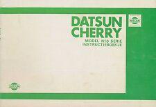 1980/81 DATSUN CHERRY N10 BETRIEBSANLEITUNG INSTRUCTIEBOEKJE NIEDERLÄNDISCH