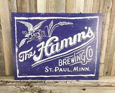 Hamm's Hamms Beer Brewing Co. Bottles New Metal Tin Bar Pub Sign Vintage Garage