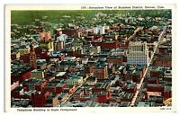 Mid-1900s Aerial View of Denver, CO w/ Telephone Building Postcard