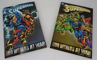 Superman Our Worlds at War Book 1 & 2 DC Comics Graphic Novel TPB
