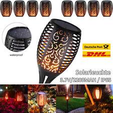 Solarleuchte 96 LEDS Garten Beleuchtung Solar Licht Lampe Fackel Leuchte Flamme