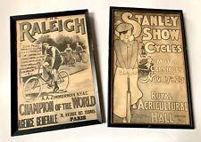 Two Vintage Framed Bicycle Prints