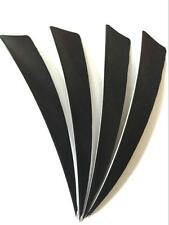 """50pcs 4"""" Natural Turkey Arrow Feather Fletching Archery Black Right Shield Wings"""