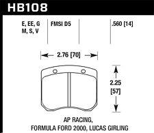 Disc Brake Pad Set-Gold Hawk Perf HB180B.560