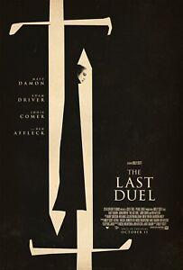 "The Last Duel (2021) Movie Art Poster HD Canvas Print Decor 12 16 20 24"" Sizes"