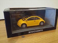 MINICHAMPS VW new Beetle Jaune 1/43 Neuve en boite