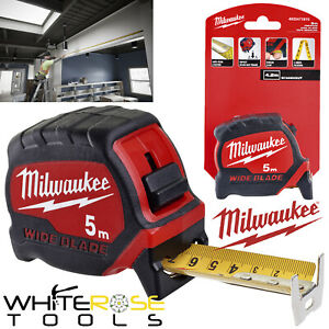 Milwaukee Tape Measure 5m Metric Premium Wide 33mm Blade Pocket Measuring Tool