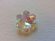 Swarovski Crystal AB 25mm-8811 Snowflake Pendant Authentic LOGO USA Fast SHIP