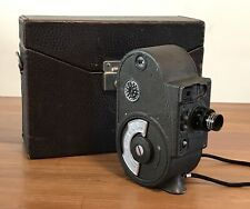 VINTAGE BELL & HOWELL FILMO DOUBLE RUN EIGHT 8MM MOVIE CAMERA - WORK