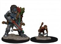 WizKids Wardlings Miniatures: Boy Rogue and Monkey