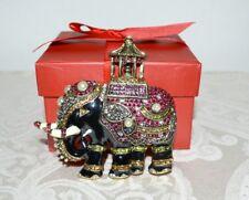 New $220 HEIDI DAUS Queen of Siam Elephant Designed Enamel Crystal Pin