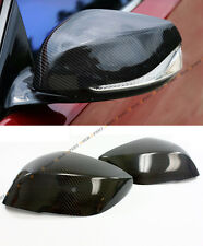 FOR 2014-2020 INFINITI Q50 S DIRECT ADD-ON CARBON FIBER SIDE MIRROR COVER CAPS