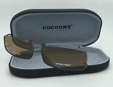 COCOONS Brown Polarized Sunglasses/Eyeglasses Over Rx Clip-on REC 18-55 Gunmetal