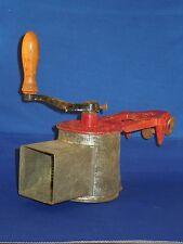 Antique Hand Crank Duplex Record Kitchen Tabletop Metal Food Grater Shredder