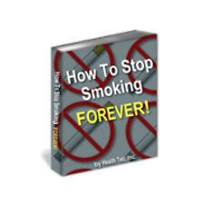 STOP SMOKING FOREVER Nichtraucher werden NIE MEHR RAUCHEN english Ebook E-LIZENZ