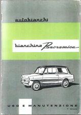 LIBRETTO USO MANUTENZIONE AUTOBIANCHI BIANCHINA PANORAMICA - 7° ediz. 1963