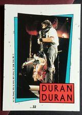 Duran Duran Guitar Playing Upside Down Blue Border Music Sticker