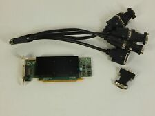 Matrox M9140-E512LAF PCI-E x16 512MB Quad Monitor Video Graphics Card VGA/DVI