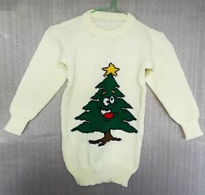 CHILDREN'S HAND-MADE CHRISTMAS TUNIC/JUMPER TO FIT: AGE 3 to 4 years