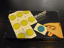 Vintage 1969 Bewilder the Almost Impossible 9 Move Card Game - Ideal