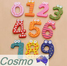 10 Number 15pcs Wooden Fridge Refrigerator Magnets Kids Learn Toy Decoration DIY