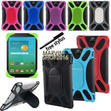 "Tablet Shockproof Silicone Stand Cover Case For Various 7"" 8"" Alcatel OneTouch"