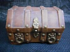 Old vtg 1970's Ceramic TREASURE CHEST Dresser Trinket Storage Box
