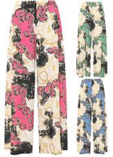 Pantaloni da donna multicolore a campana