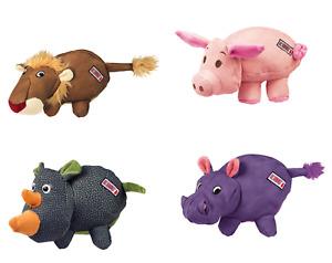 Kong Phatz Dog Soft Animal Shaped Lion Pig Hippo Rhino Squeaky Chew Toy