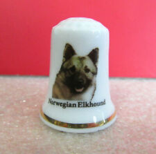 Bone to Be Wild Norwegian Elkhound Dogs of the World Imperial Treasure Thimble